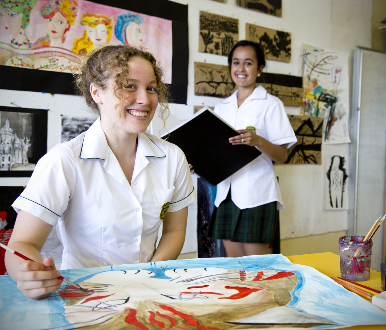 students in visual arts